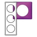 Plaque - Métal - 3 postes - Violet Irisé
