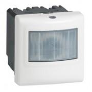 Inter détecteur de mouvements Prog Mosaic - ECO 1 - 2 fils - pour minuterie-blanc