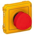 Poussoir déverrouillage 1/4 tour Programme Plexo composable gris/jaune