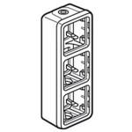 Boîtier à embouts Programme Plexo composable gris - 3 postes verticaux