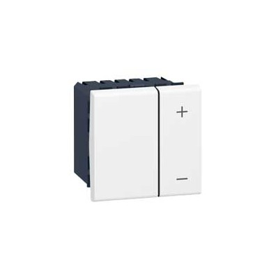 Inter variateur Prog Mosaic - 2 mod - 1-10 V - Blanc