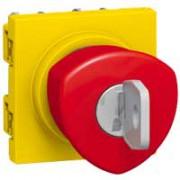 Poussoir coup de poing arrêt d'urgence Programme Mosaic - à clé - 3 A - 2 modules