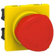 Poussoir coup de poing arrêt d'urgence Programme Mosaic - 1/4 de tour - 3 A - 2 modules
