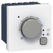 Thermostat d'ambiance électronique - Programme Mosaic - 5 à 30° C - 2 modules  - Blanc