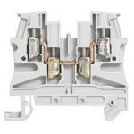 Bloc de jonction Viking 3 à vis - 1 jonction/2 entrées/2 sorties - Gris - pas de 6mm
