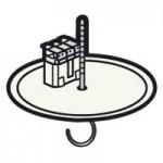 Couvercle clé DCL batibox béton ø 120mm