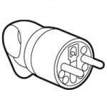 Fiche 16A - 2P+T- plastique - anneaux - Blanc