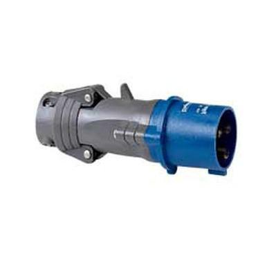 Fiche droite 32A - 2P+T- IP44 - 200/250 V~