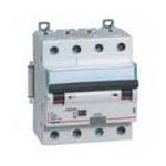 Disjoncteur différentiel tétrapolaire 40A 400V~ - 30mA - 10Ka - Courbe C - 4 modules