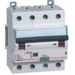 Disjoncteur différentiel tétrapolaire 10A 400V~ - 300mA - 10Ka - Courbe C - 4 modules