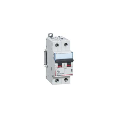 Disjoncteur bipolaire 32A vis/vis - 230/400v~  Courbe C - 2 modules