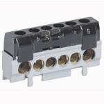 Bornier de répartition phase - 1 connexion 10 à 35 mm² - noir - L 62 mm - Boîte de 10 pièces