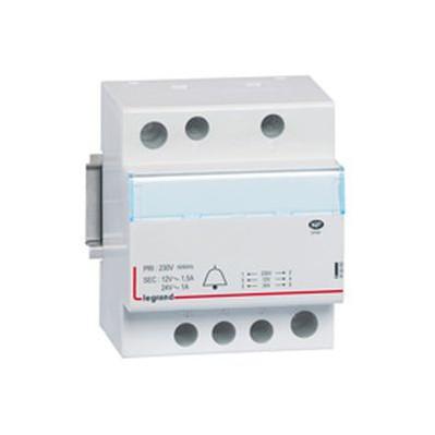 Transformateur pour sonnerie - 230 v / 24-12 v - 24-18 va - 4 modules