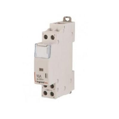 Contacteur de puissance bobine16A - 230 v~ - 2p - 250 v~  - O + F - 1 module