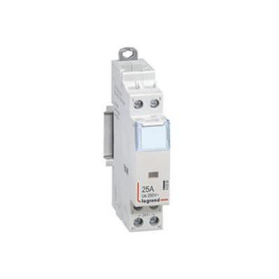 Contacteur de puissance bobine 25A - 24v~ -sans cde manuelle - 2p/250v~ - 2F