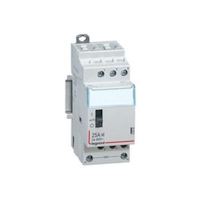 Contacteur domestique silencieux 25A  - 230 v~ - 3p - 400 v~ - 3F