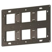 Support grand format Batibox-pour Prog Céliane/Mosaic-2x3 postes-2x6/8 modules