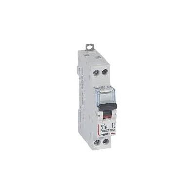 Disjoncteur 16A dx³ 6000 - vis/vis - U+N - 230v~ -10ka - Courbe B - protect départ