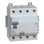 Interrupteur différentiel 63A vis/vis - 4p - 400v~ - type AC - 30ma - départ bas - dx³-id