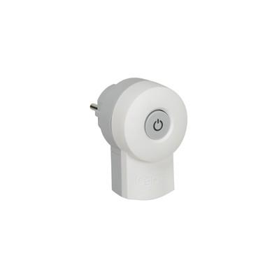 Fiche double fonction 16A - 250 V~ -avec interrupteur - Blanc