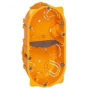 Boîte multiposte Batibox - cloison sèche - 2 postes - 4/5 modules - prof. 40
