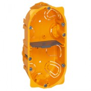 Boîte multiposte Batibox - cloison sèche - 2 postes - 4/5 modules - prof. 50