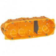 Boîte multiposte Batibox - cloison sèche - 3 postes - 6/8 modules - prof. 50