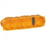 Boîte multiposte Batibox - cloison sèche - 4 postes - 8/10 modules - prof. 40