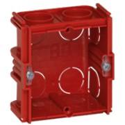 Boîte monoposte Batibox - maçonnerie - carrée associable - prof. 50