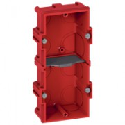 Boîte multiposte Batibox - maçonnerie - 2 postes 4/5 modules - vert/horiz -prof. 40