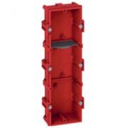 Boîte multiposte Batibox - maçonnerie - 3 postes 6/8 modules - verticale/horizontal -prof. 40