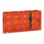 Boîte multimatériaux Batibox - grand format - pour Mosaic 2x10 modules - prof 50