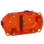 Boîte multimatériaux Batibox - 2 postes - 4/5 modules - verticale/horizontale - prof. 50