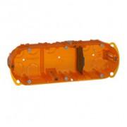 Boîte multimatériaux Batibox - 3 postes - 6/8 modules - verticale/horizontale - prof. 50