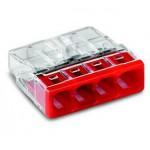 Bornes pour boîtes de dérivation COMPACT borne à 4 conducteurs - Boîte de 100 pièces