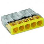 Bornes pour boîtes de dérivation COMPACT borne à 5 conducteurs - Boîte de 100 pièces