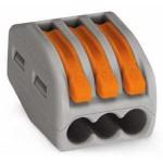 Borne pour boîte de dérivation borne à 3 conducteurs avec leviers de manipulation - Boîte de 50 pièces