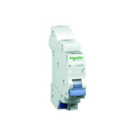 Disjoncteur D'clic 2A - 1 pôle +N - courbe C - embrochable - DuoLine XE