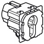 Poussoir à clé 3 positions Céliane - inverseur avec arrêt - 6A - 230 V