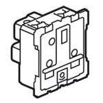 Prise de courant standard Britannique Céliane - 13A - 250V - 2P+T - éclips